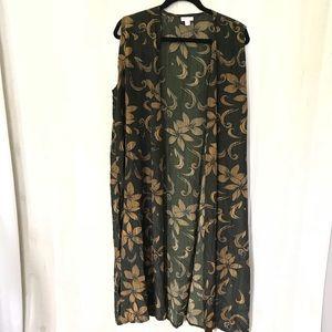 LuLaRoe floral joy duster vest
